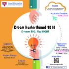 A poster of Dream Hunter Award 2018